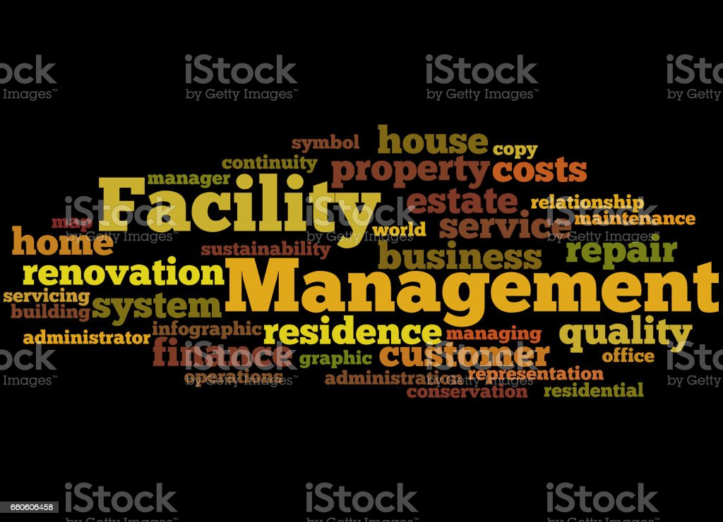 Facility Management, word cloud concept 2 royalty-free facility management word cloud concept 2 stock vector art & more images of administrator
