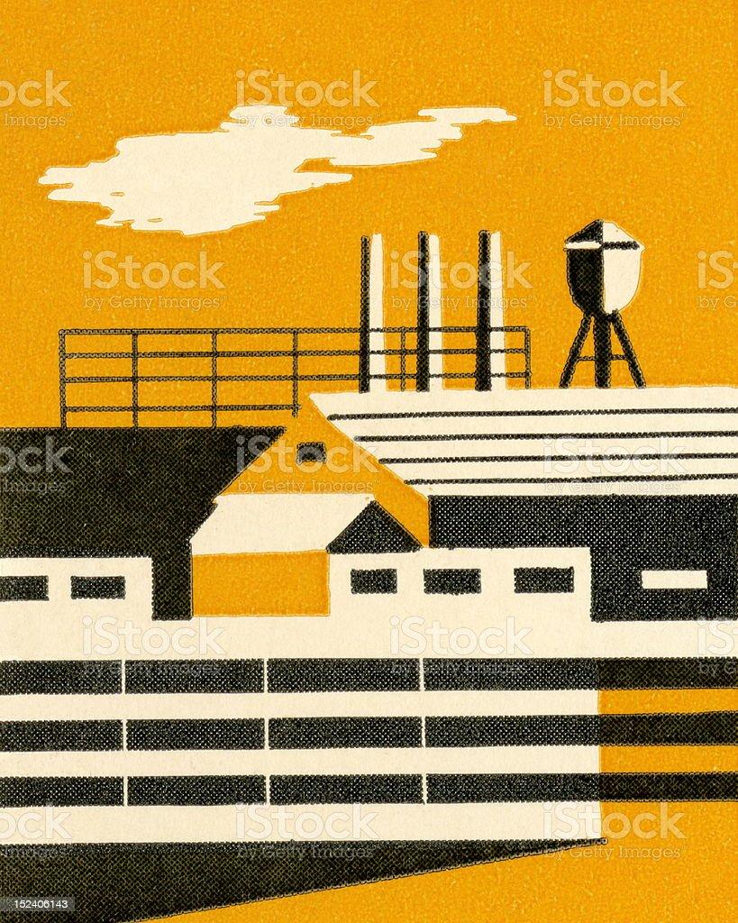 Factory royalty-free stock vector art