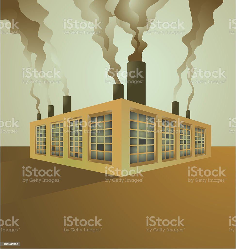 factory vector art illustration