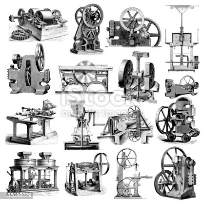 Factory Machines Clipart