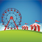 Fair and festival background with copy space.