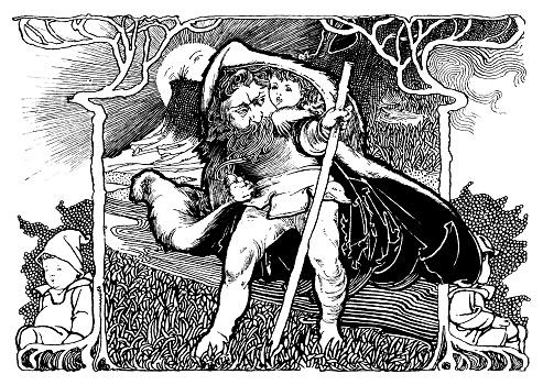Fairy folk in nature