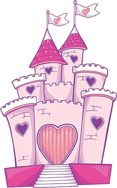Fairy Tale Castle Vector Illustration vector art illustration