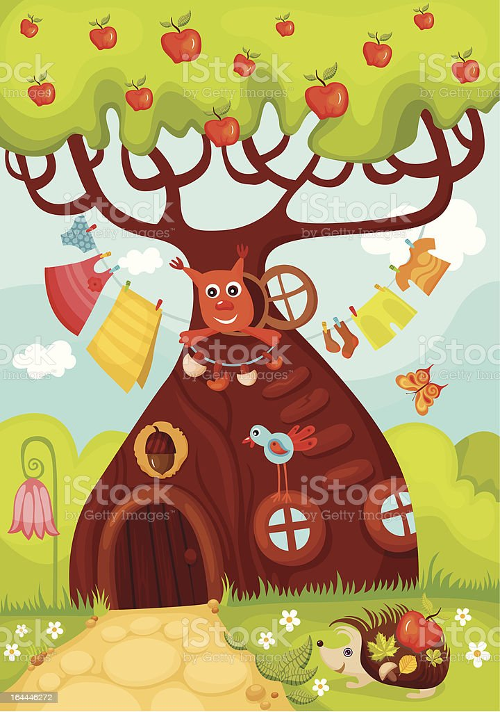 fairy tree royalty-free stock vector art