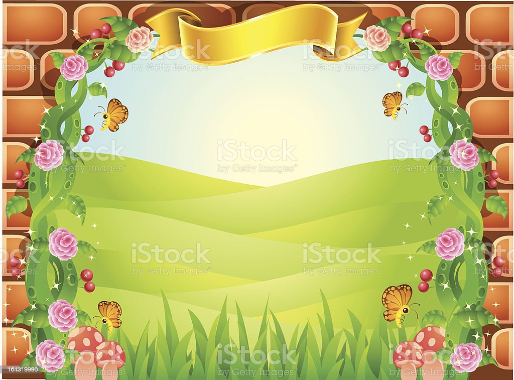 fairytale background royalty-free stock vector art