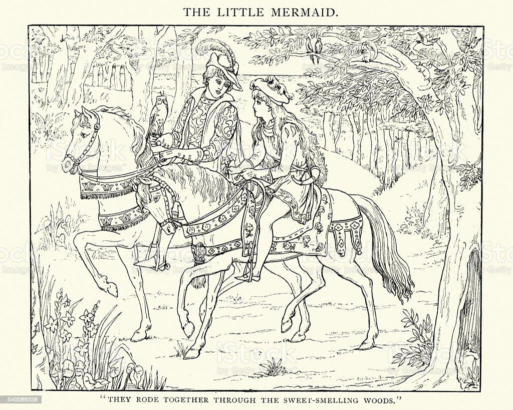 Fairytale - The Little Mermaid vector art illustration