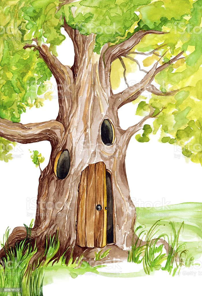 fairytale tree royalty-free stock vector art