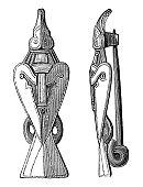 Illustration of a Fibula (brooch) found in Sweden