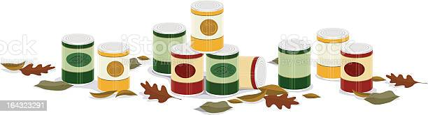 Fall Canned Goods Banner Stock Illustration - Download Image Now