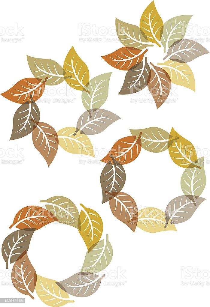 Fall leaf circles royalty-free stock vector art