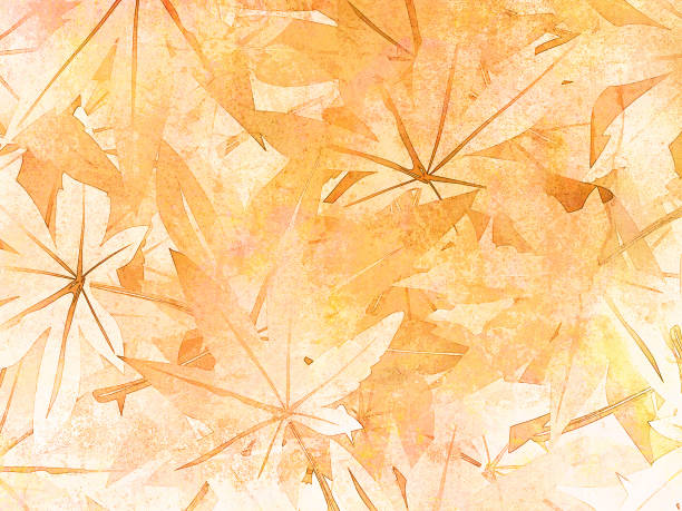 Fall leaves background in watercolor style - abstract subtle thanksgiving pattern - autumn theme Digitally painted floral backdrop with soft texture fall background stock illustrations