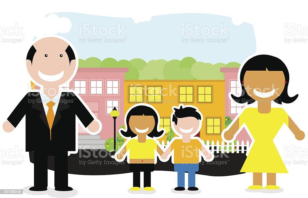 Familie Lizenzfreies familie stock vektor art und mehr bilder von dorf