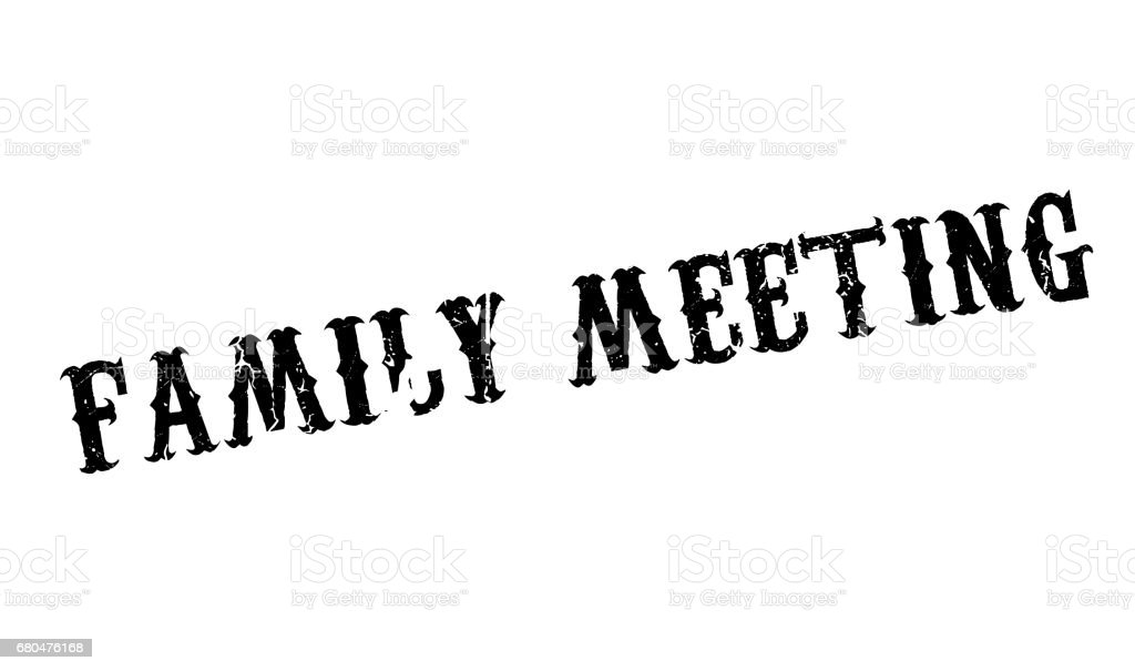 family meeting rubber stamp stock vector art more images of