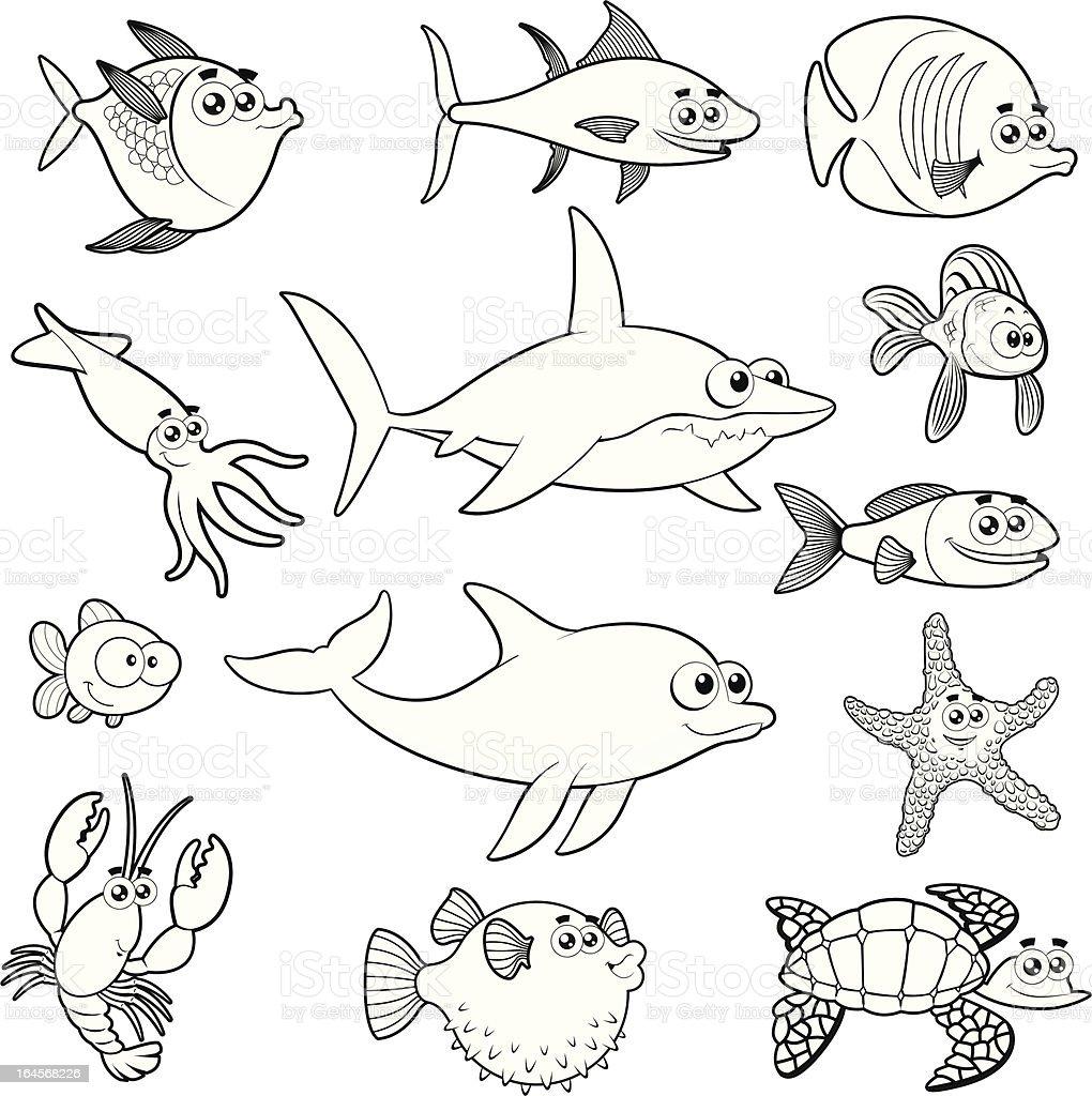 Family Of Funny Fish stock vector art 164568226  iStock