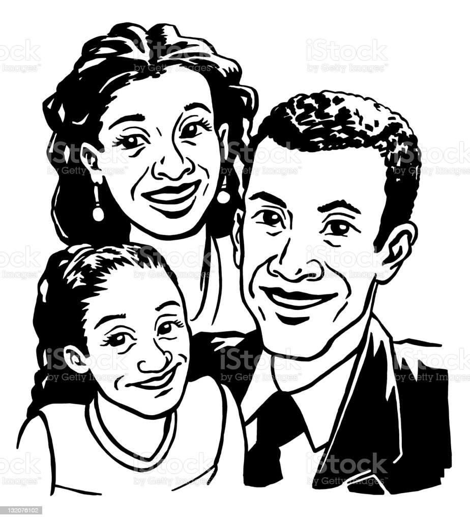 Family Picture vector art illustration