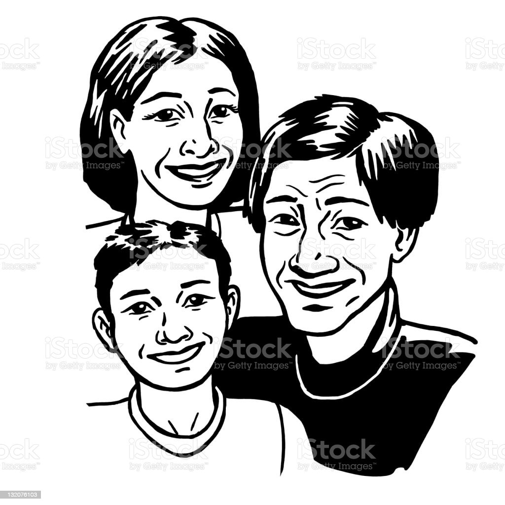 Family Picture royalty-free stock vector art