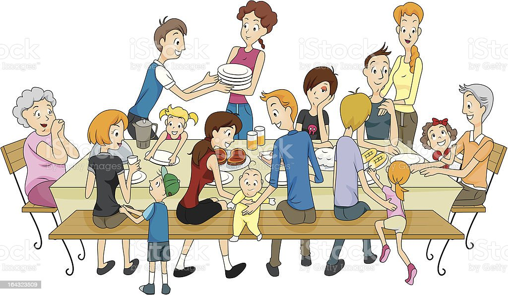 Family Reunion vector art illustration