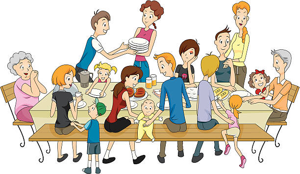 family reunion - reunion stock illustrations, clip art, cartoons, & icons