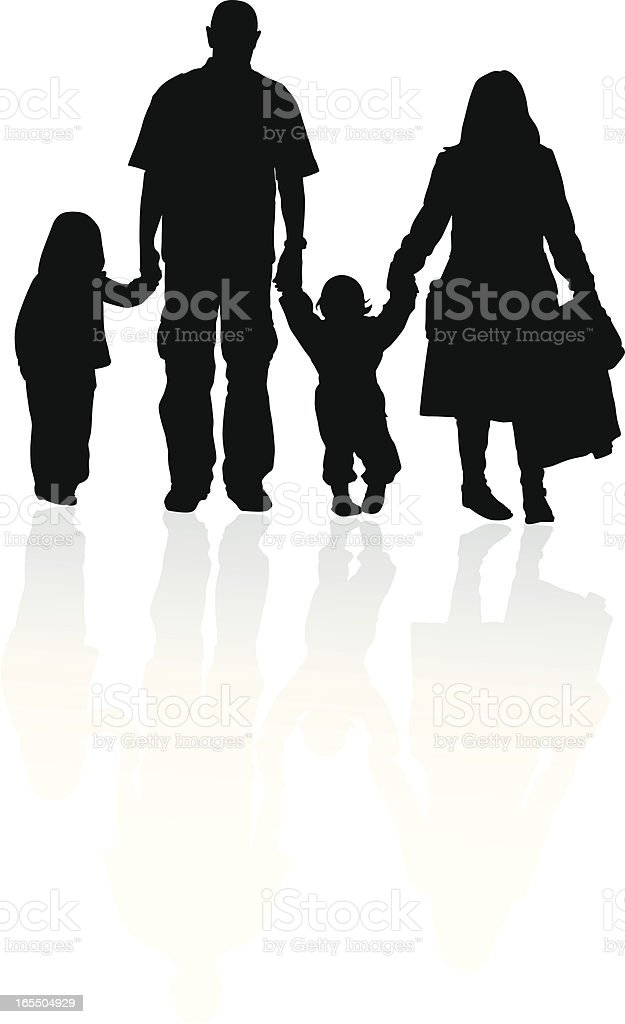 Family Walk royalty-free stock vector art