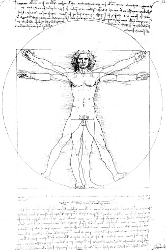 A famous artistic picture symbolic of human anatomy