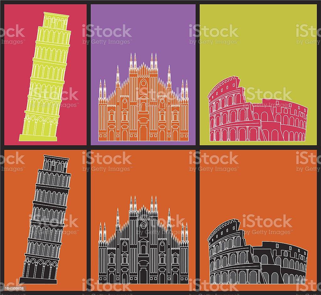Famosi edifici italiano - illustrazione arte vettoriale