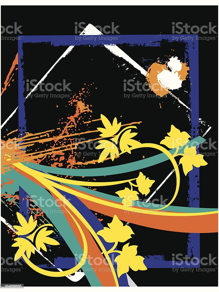 Fancy Floral Background Series royalty-free stock vector art