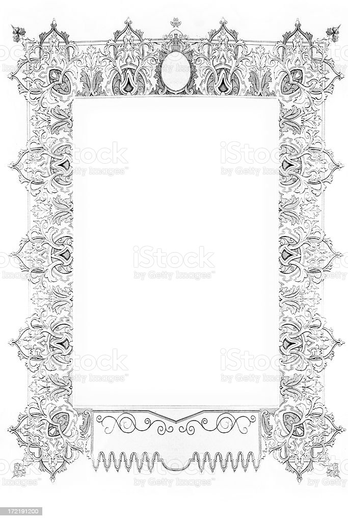 Fancy frame royalty-free stock vector art