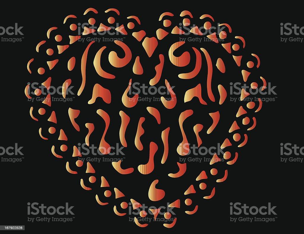 Fancy Heart Vector royalty-free stock vector art