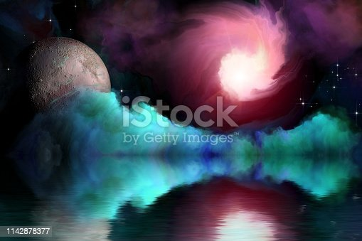 istock fantastic landscape of another planet 1142878377