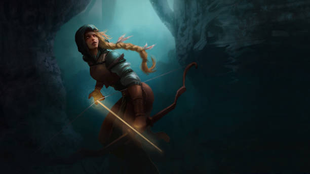 Fantasy Art - Character Portrait - Ranger Character Art for your board game, RPG, card game, splash page or kickstarter pitch dreamlike stock illustrations