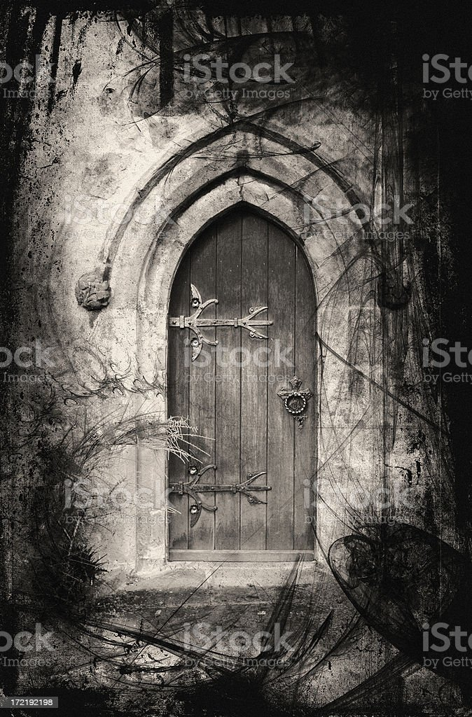 Fantasy doorway vector art illustration