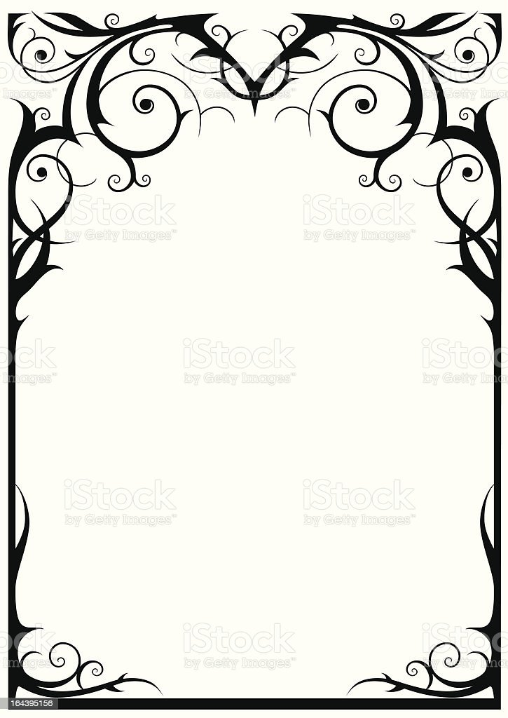 Fantasy frame vector art illustration