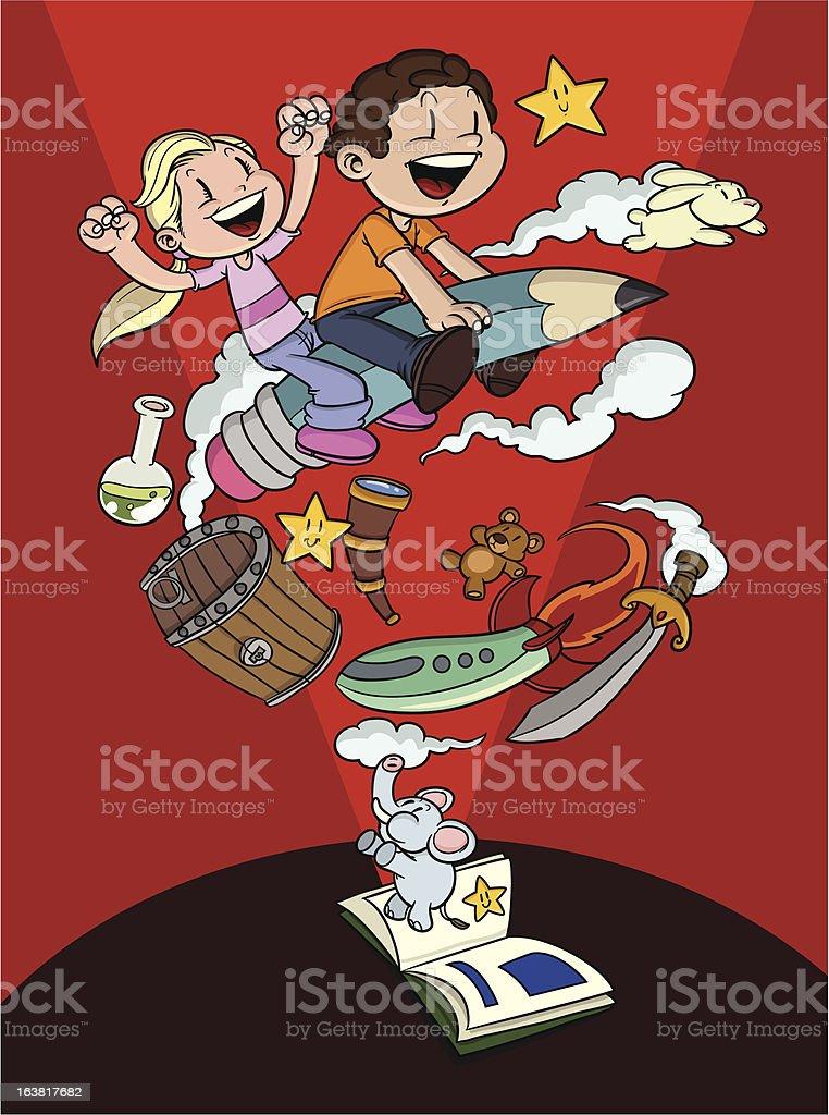 Fantasy kids royalty-free stock vector art