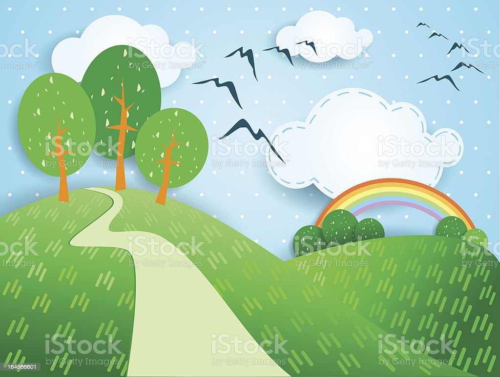 Fantasy landscape royalty-free stock vector art