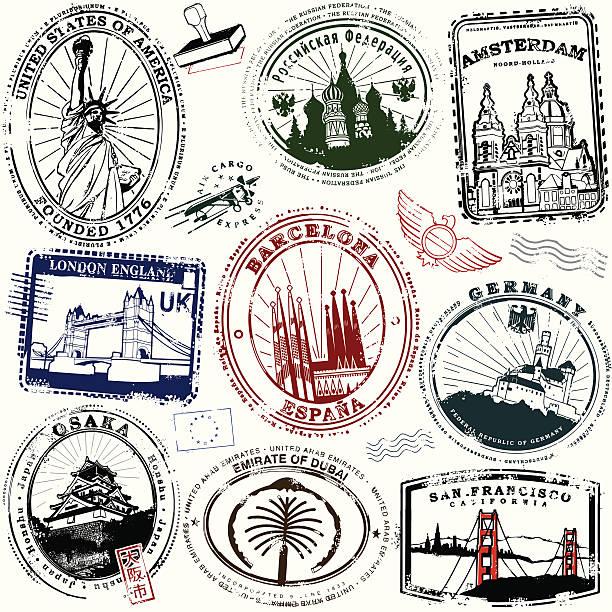 far and away - uk travel stock illustrations
