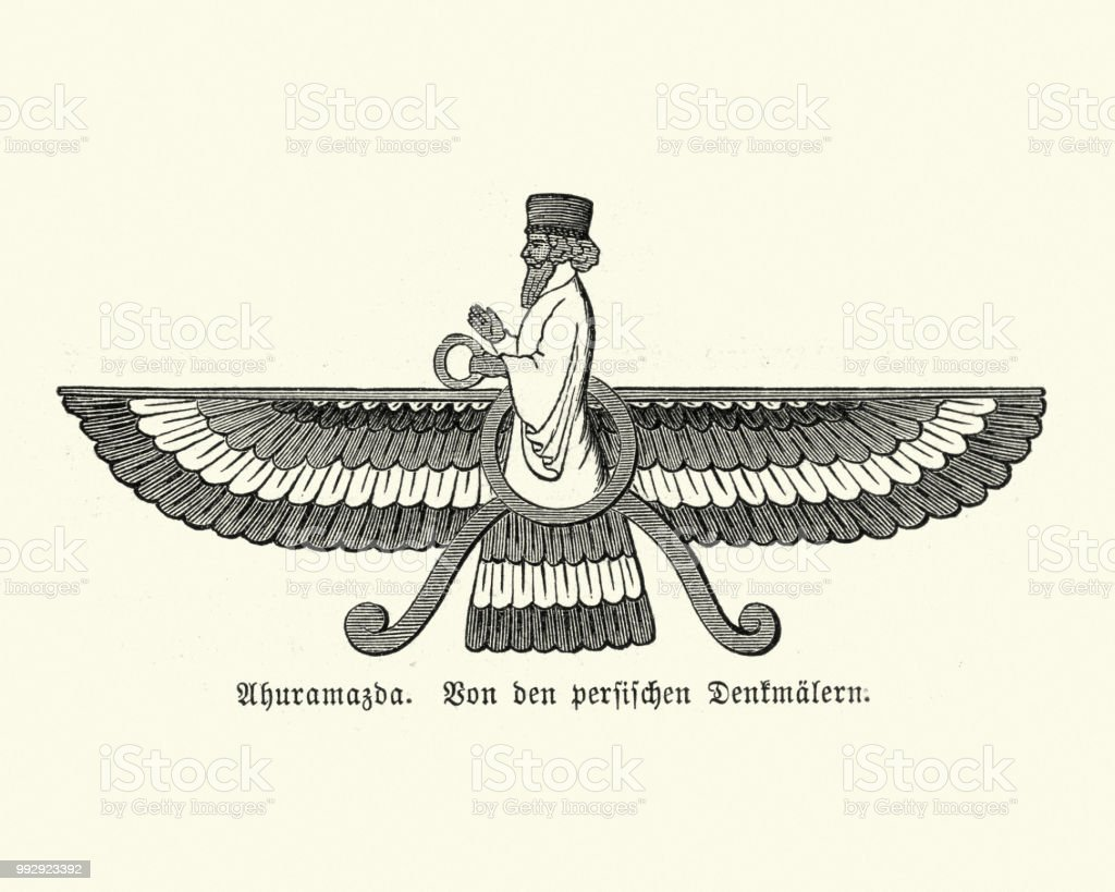Faravahar Symbol Of Ancient Persia Stock Vector Art More Images Of