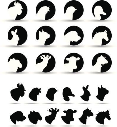 farm animal icons