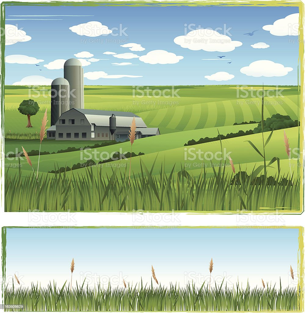 Farm background royalty-free farm background stock vector art & more images of agriculture
