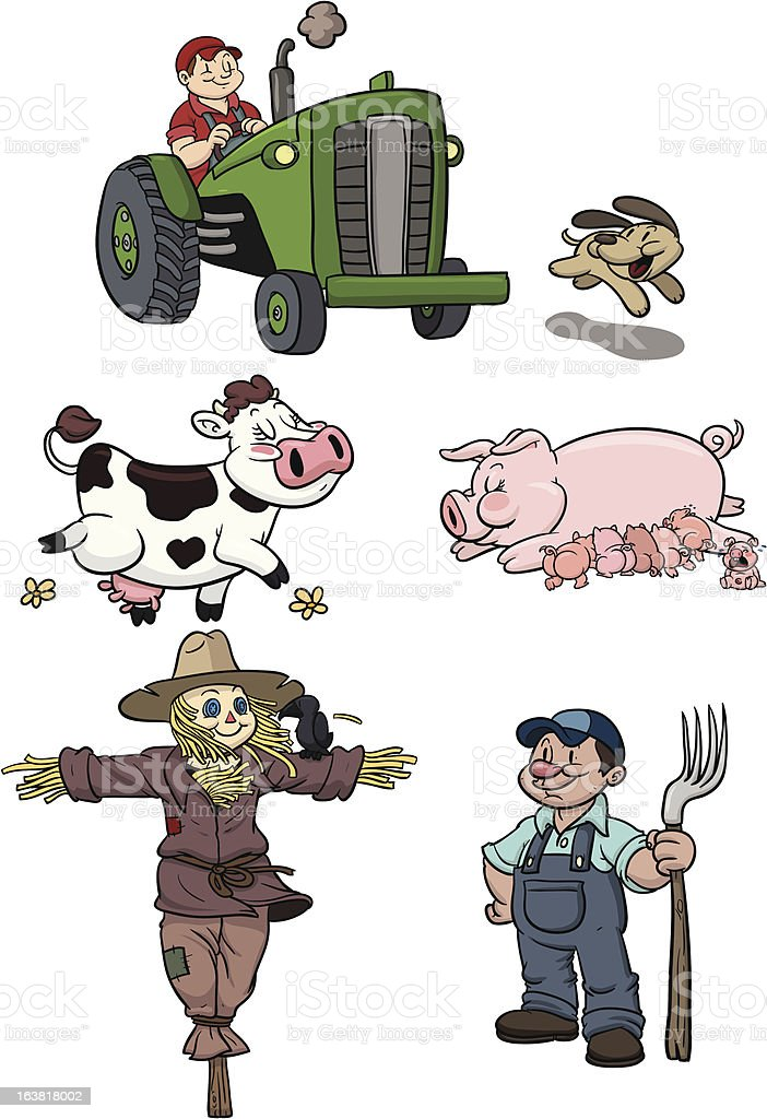 Farm characters royalty-free stock vector art