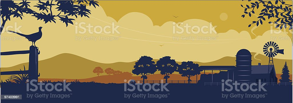 Farm vector art illustration