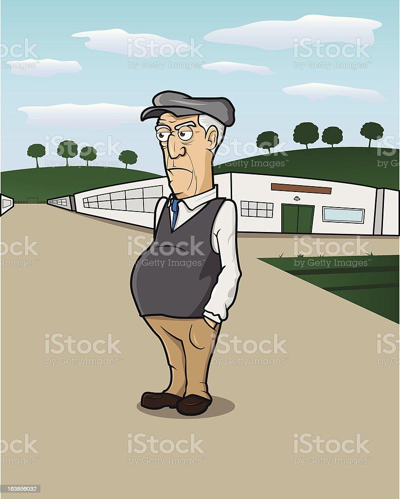 Farm Man vector art illustration