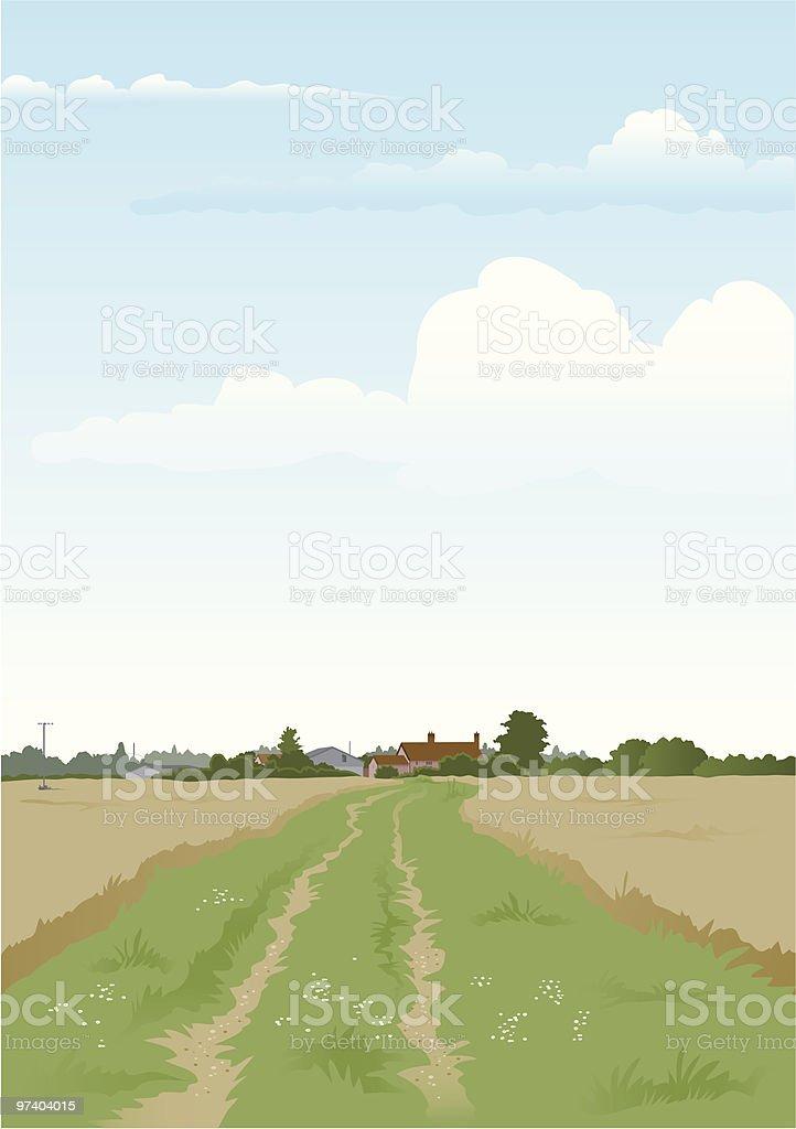 Farm track royalty-free stock vector art