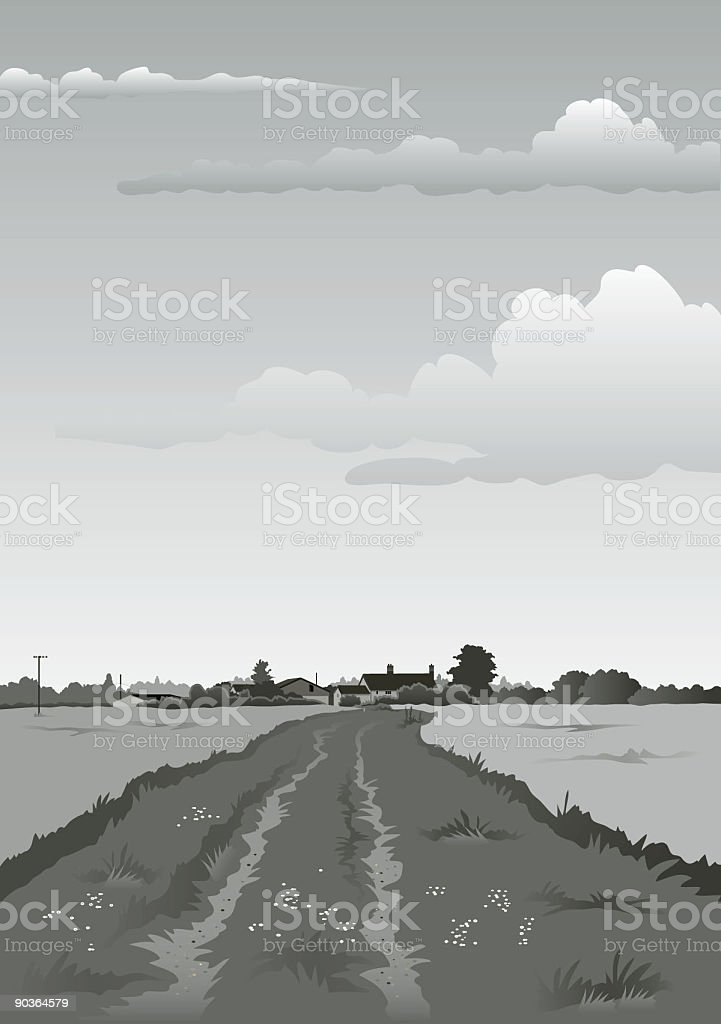 Farm track mono royalty-free farm track mono stock vector art & more images of agriculture