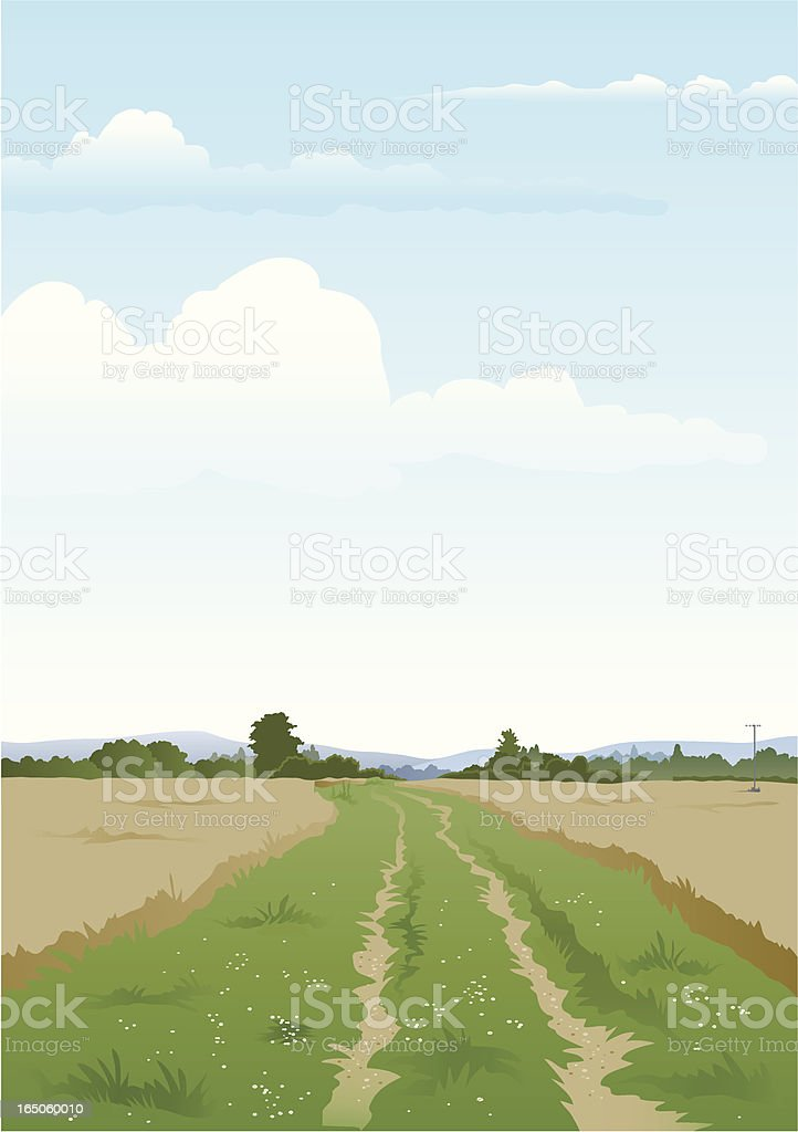 Farm track two. royalty-free stock vector art