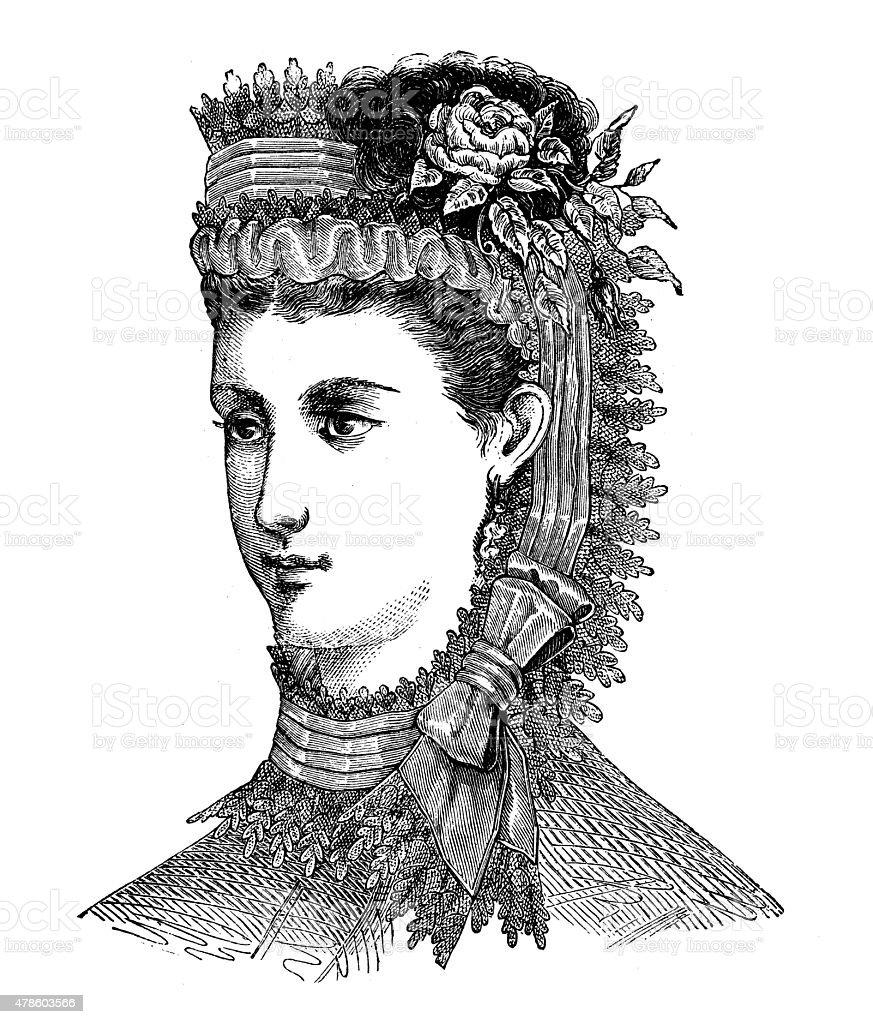 Modische Kleidung Und Frisur Modelle Aus Dem 19 Jahrhundert