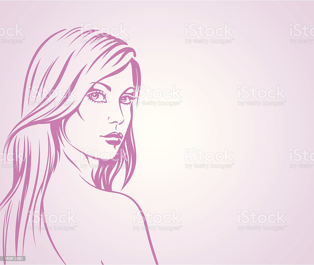 Fashion girl vector background royalty-free stock vector art