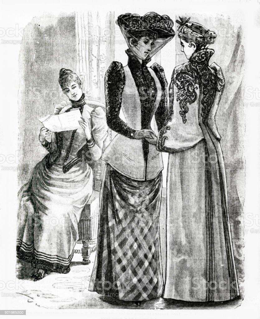 1889 年からの 2 つのコートとド...