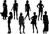 People in Silhouette, it can be Fashion poster.
