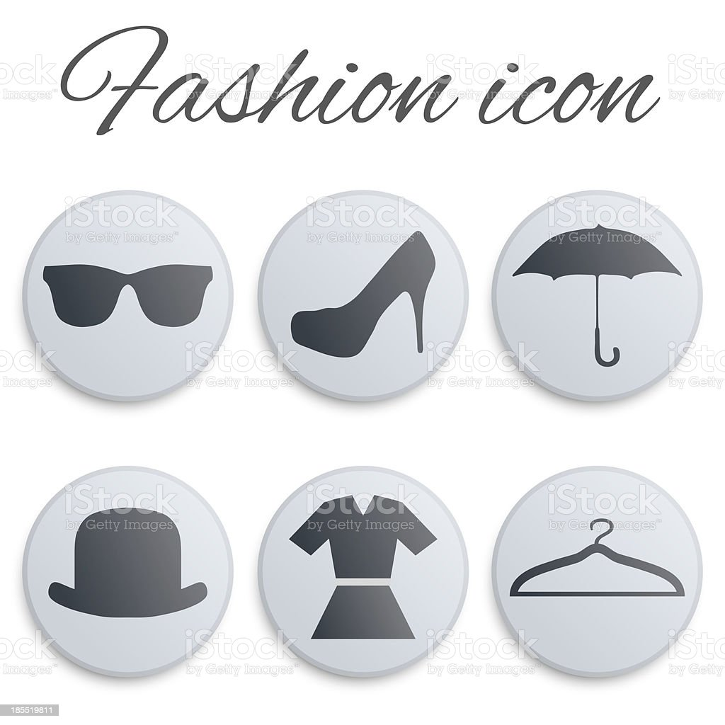 Fashion realistic button set royalty-free stock vector art