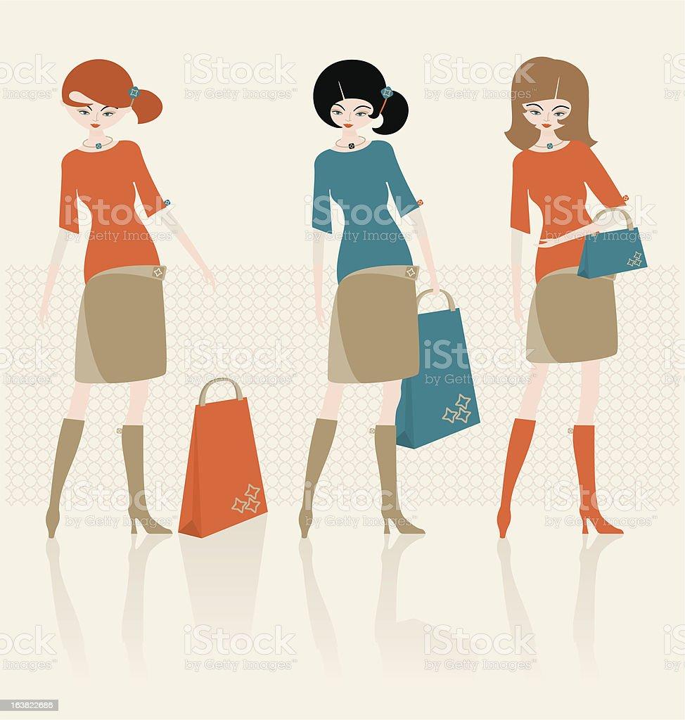 Fashion shopping_modern - ilustración de arte vectorial